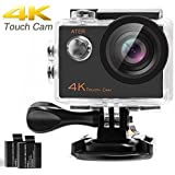 ATER 4K Touch Action Camera WIFI Ultra HD 16MP 30m Underwater Waterproof Camcorder 170 Degree Wide Angle 2 inch LCD Screen Sports Cam with Mounting Kits