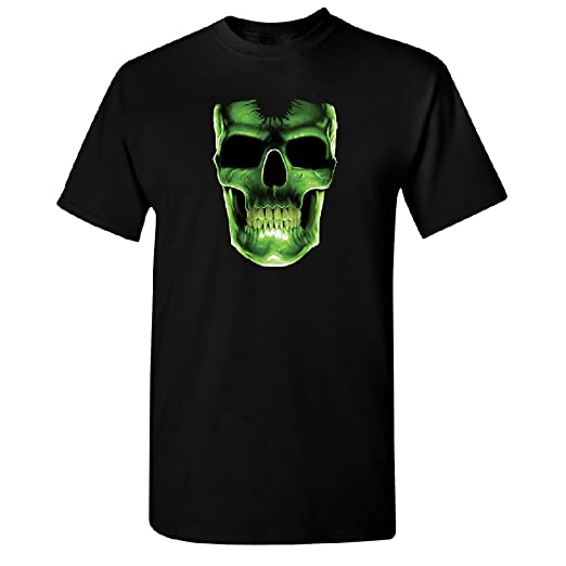 Skull Glow In The Dark Men S T Shirt Day Of Dead Sugar Skull Tee