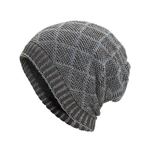 DEATU Clearance Hat Women Men Warm Baggy Weave Crochet Unisex Winter Knit Ski Beanie Skull Caps Hat (c-Gary,One Size)