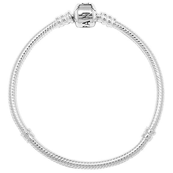 cb131bf20c50 PANDORA Women s Standard 925 Sterling Silver Bead Clasp Charm Bracelet  590702HV  Amazon.es  Joyería