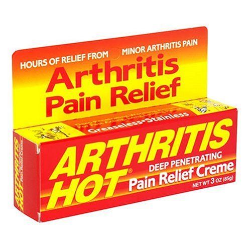 Arthritis Hot Deep Penetrating Pain Relief Cream 3 ounce (Pack of 6)