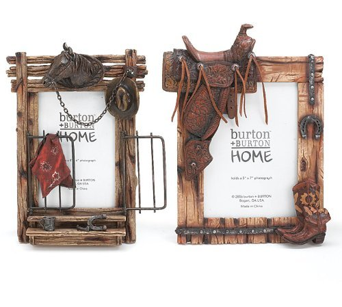 Set of 2 Horse & Western Themed Picture Frame -