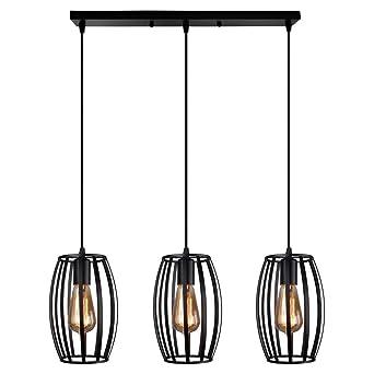Et Contemporain Ajustable salle Tambour Stoex Luminaire Pour Barre Cage 3 Lustre Corde Industrielle Noir Lampes CuisineCouloir Forme À Suspension EDIeH9YW2