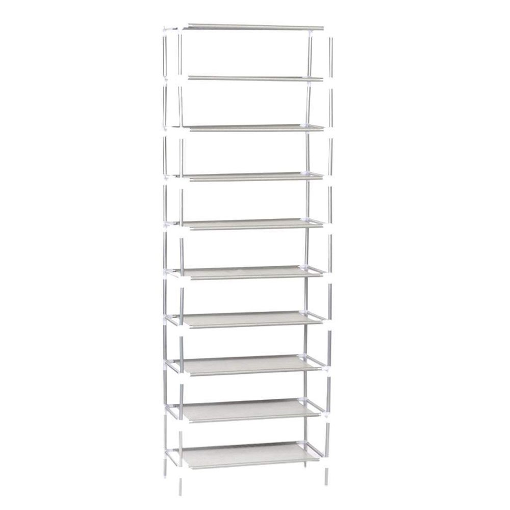 50 Pairs 10-Tier Shoe Rack Shoe Organizer Shoe Storage Shoe Shelves Cabinet Stackable - Easy to Assemble - No Tools Required (7 Tier 21 Pairs) Chawind