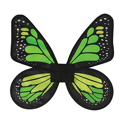 Fun Express - Wings Butterfly Satin Ad Green for Halloween - Apparel Accessories - Costume Accessories - Costume Props - Halloween - 1 Piece -