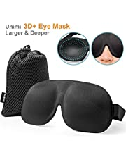 Unimi Eye Mask for Sleeping, 3D Plus Sleep Mask for Woman and Man Larger and Deeper Comfortable Sleeping Mask, Upgrade Total Blackout Eye Cover.