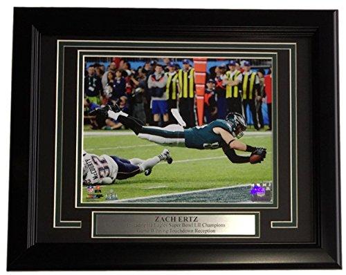 Zach Ertz Framed 8x10 Philadelphia Eagles Super Bowl 52 LII Winning Touchdown (Framed 8x10 Philadelphia Eagles Photo)