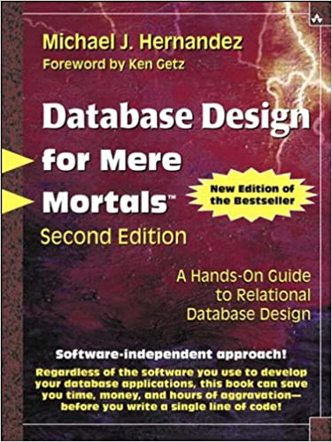 amazoncom database design for mere mortals a hands on guide to relational database design ebook michael j hernandez kindle store - Relational Database Design Software