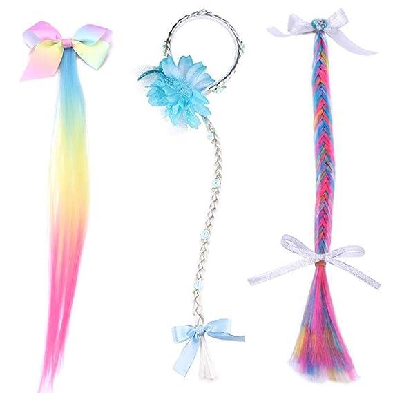 Tumao 3 piezas La princesa peluca trenza vestir accesorios ...
