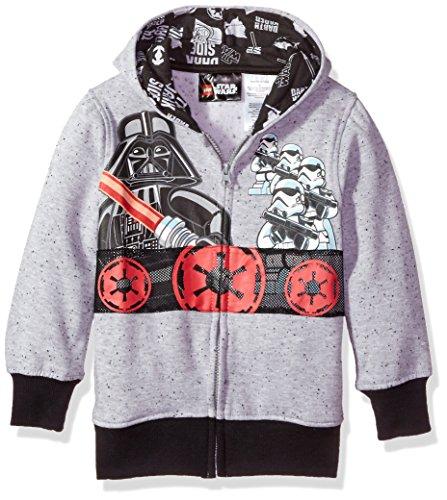 Star Wars Big Boys' Hooded Sweatshirt, Gray, 10/12