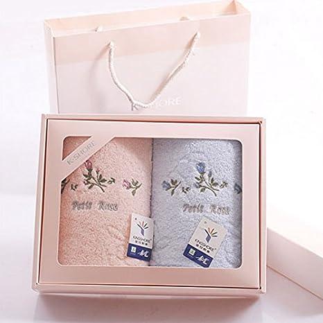 ZHFC Toallas Classic Rose dos cajas de regalo de la boda grupo mayorista de compra regalo traje 74 * 33cm: Amazon.es: Hogar