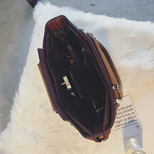 Hit Da Borsa Dhfud Color Tracolla Donna Fashion Burgundy A FttwdY