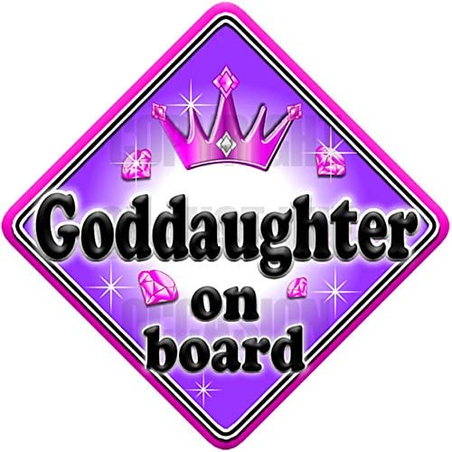 GEM JEWEL GODDAUGHTER non personalised novelty baby on board car sign
