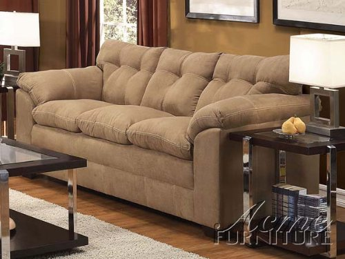 ACME 50360 Lucille Sofa with Latte Micro - Plush Microfiber Sofa Shopping Results