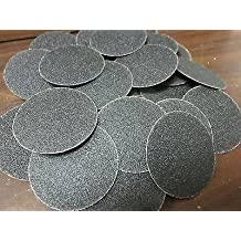 """25pc 2"""" 80 GRIT ROLOC COOKIE DISCS SILICON CARBIDE SANDING DISC ROLL LOCK TYPE R"""