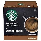 Starbucks by Nescafé Dolce Gusto, House Blend Americano 12 Cápsulas, 12 piezas