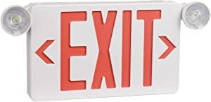Ciata Ultra Bright LED Decorative Red Exit Sign & Emergency Light Combo with Battery Backup, 6-inch Red Letters (Pack of 1)
