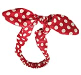 Search : Women's Red Polka Dot Pin-Up Bow on Headband Hair Band