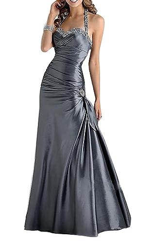 Huafeiwude Women's Floor Length Halter Evening Party Bridesmaid Dress
