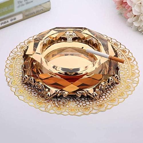 葉巻灰皿, 灰皿、結晶合金のギフト誕生日ギフトリビングルーム直径20CMホームオフィスデコレーションクラフトファッション、大容量灰皿