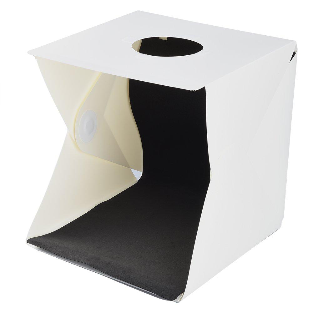 ALLCACA Portable Mini Photo Studio 11.8''x11.8''/30x30cm Portable Photo Studio Tent With LED Light Small Folding Product Lighting Kit, White