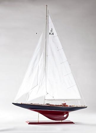 Batela Holz Modell Segelboot Endeavour Lux 66 cm Schiffsmodell Standmodell