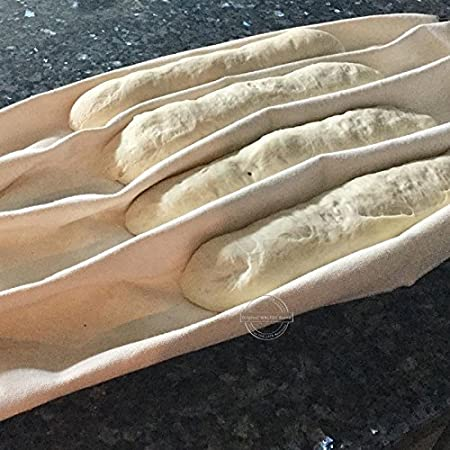 TOOGOO fermentado Panos de panaderia para Pruebas de Masa Que prueban Baguette de Pan Hornear Pasteles Herramientas de Cocina de pasteleria 36x45CM