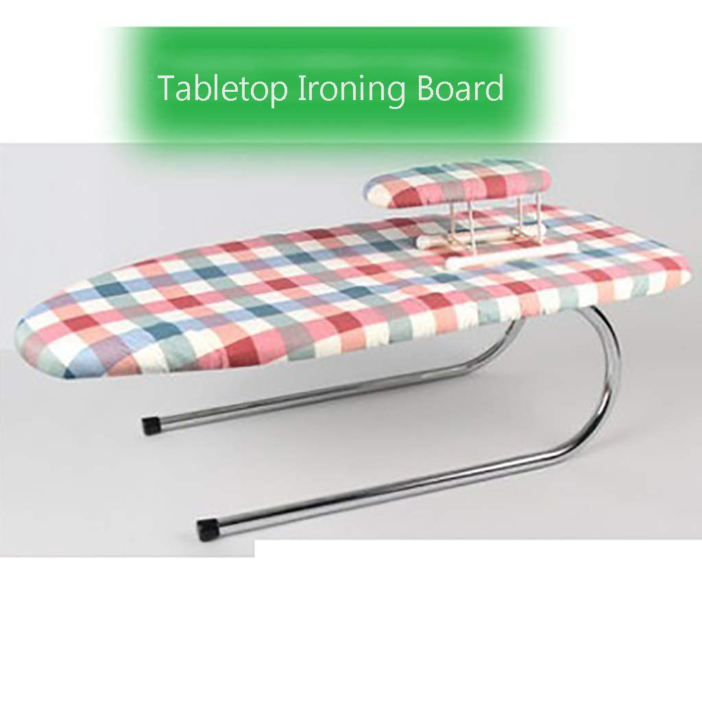 TT&CC Foldable Tabletop Ironing Board, Cotton Cover Mini 4-Leg Home Stable Legs Easy Storage Heat Scorch Resistant Lightweight Iron Board-K 73x32x23cm(29x13x9inch)