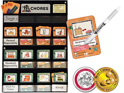 NEATLINGS Chore System - Chore Chart for Kids   80+ Chores for Toddlers to Teens   Customize for 1 Child   Size 18