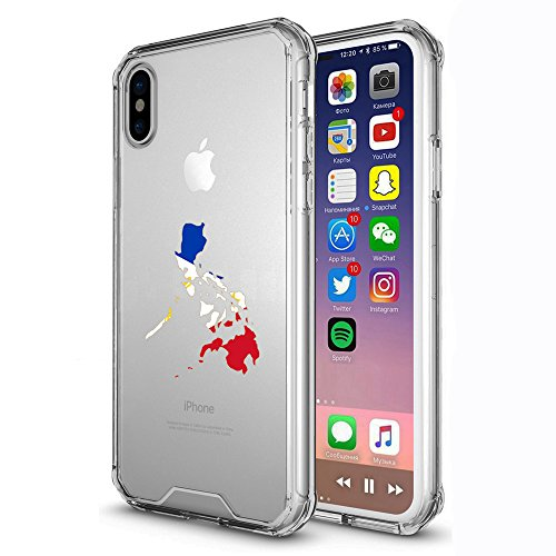 Clear Shockproof Bumper Case Hard Cover for Apple iPhone Philippines Filipino Flag (Clear, for Apple iPhone XR)