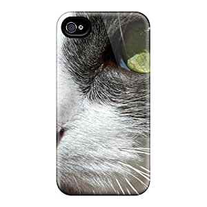 New Cat Close Up Tpu Skin Case Compatible With Iphone 4/4s