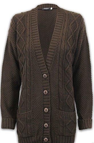 New Girl Fashions - Cárdigan - para mujer marrón