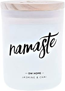 DW Home Namaste Zen Series Richly Scented Candle Jasmine + CHAI in Large Jar with Lid