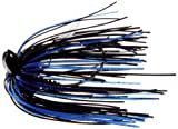 Megastrike Evolution 2 Heavy Cover Jig, Pack of 2 (3/4-Ounce, Black Head Black Blue Skirt)
