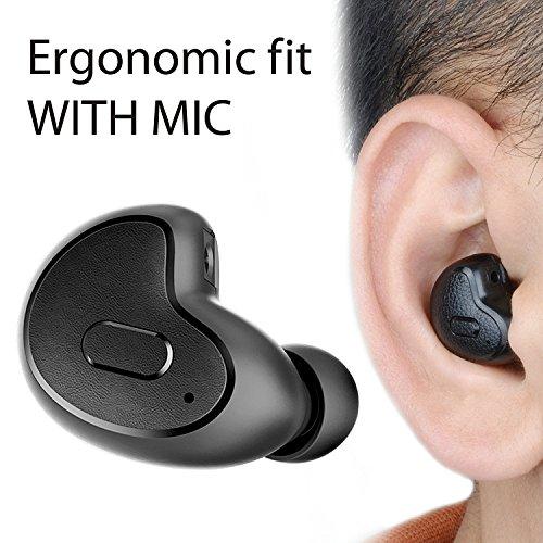 Avantree MINI Bluetooth 4.1 Headset Earbuds MIT MIKROFON, Kleiner kabelloser Ohrstöpsel für Anrufe, Podcasts, Audiobooks, GPS, unsichtbar & bequemer Sitz kopfhörer, nur für das rechte Ohr geeignet - Apico