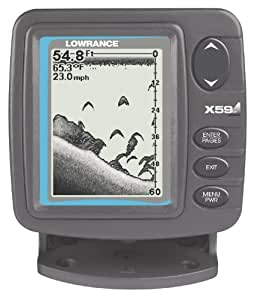 Lowrance x59 df 4 inch waterproof fishfinder for Amazon fish finder