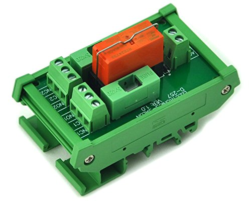 ELECTRONICS-SALON DIN Rail Mount Fused DPDT 8A Power Relay Interface Module, AC Coil 230V Relay.