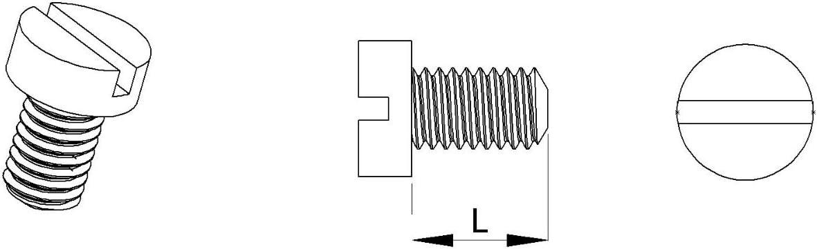 M5 Vis t/ête ronde fendue nylon diam ajile longueur L = 20 mm plastique polyamide PA6.6 isolant 20 pi/èces