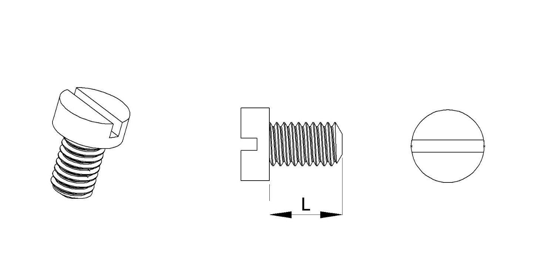Isolierend L/änge L = 16 mm 20 St/ücke ajile M3 Zylinderschraube mit Schlitz Polyamid PA6.6 Plastik Nylon