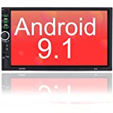 Binize 7 Inch Double Din Android Car Stereo, in-Dash Multimedia Player,with GPS Navigation,FM,Bluetooth,WiFi,USB/TF/AUX…