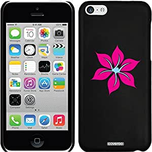 Coveroo iPhone 5 5s Black Thinshield Snap-On Case with Flower Love Pink Design
