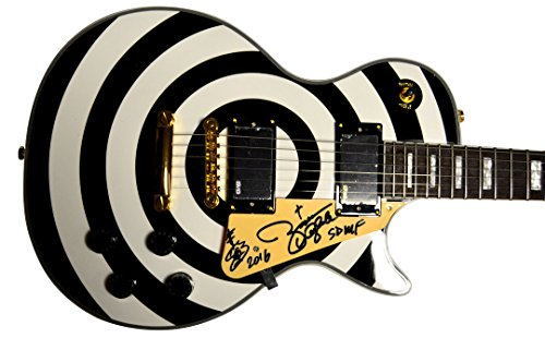 Zakk Wylde Autographed Signed Replica Bullseye Guitar AFTAL UACC RD COA