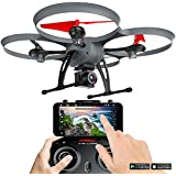 Kolibri Hellfire Drone HD Wide-Angle Camera with FPV App Video Stream, with 15 Minutes Flight Time, Altitude Hold, Headless Mode, Auto Take-Off & Landing Quadcopter for Beginners Model: XK6600