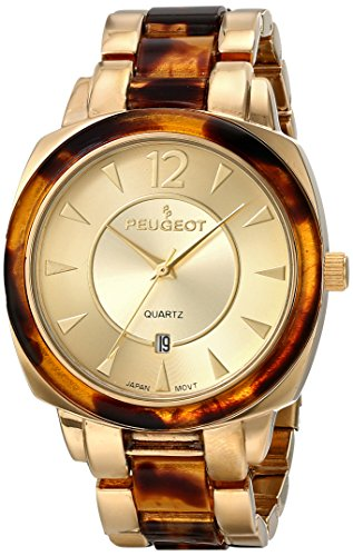 Peugeot Women's 7096 Analog Display Japanese Quartz Gold Watch