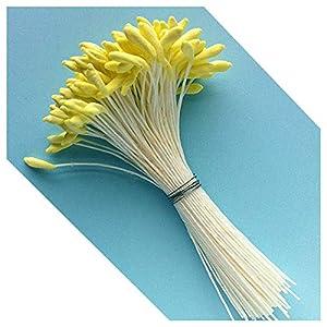 Medium Lily & Peony Flower Stamen (Yellow) by World of Sugar Art 30