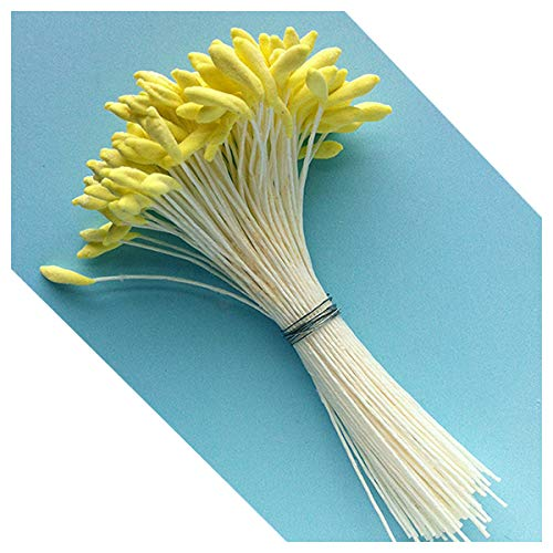 Medium Lily & Peony Flower Stamen (Yellow) by World of Sugar Art