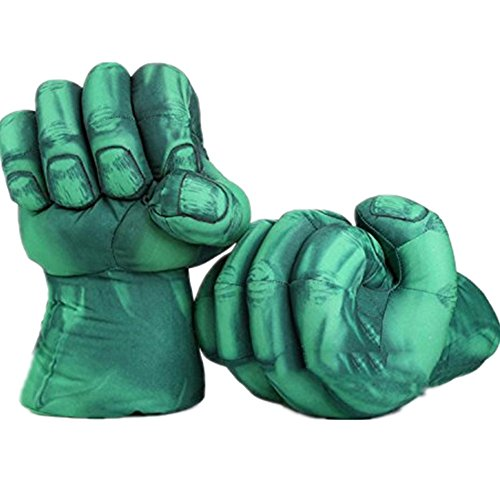 [Soft Plush Boxing Gloves Toys Cosplay Costume Props for Kids Halloween Gifts] (Hulk Costumes Adults)
