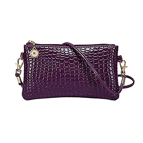 Handbag Bodhi2000 Messenger Mini Crossbody Leather Bag PU Womens Purple Satchel Tote qqxPzfwS