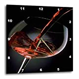 3dRose dpp_33209_3 Pour a Glass of Red Wine-Wall Clock, 15 by 15-Inch