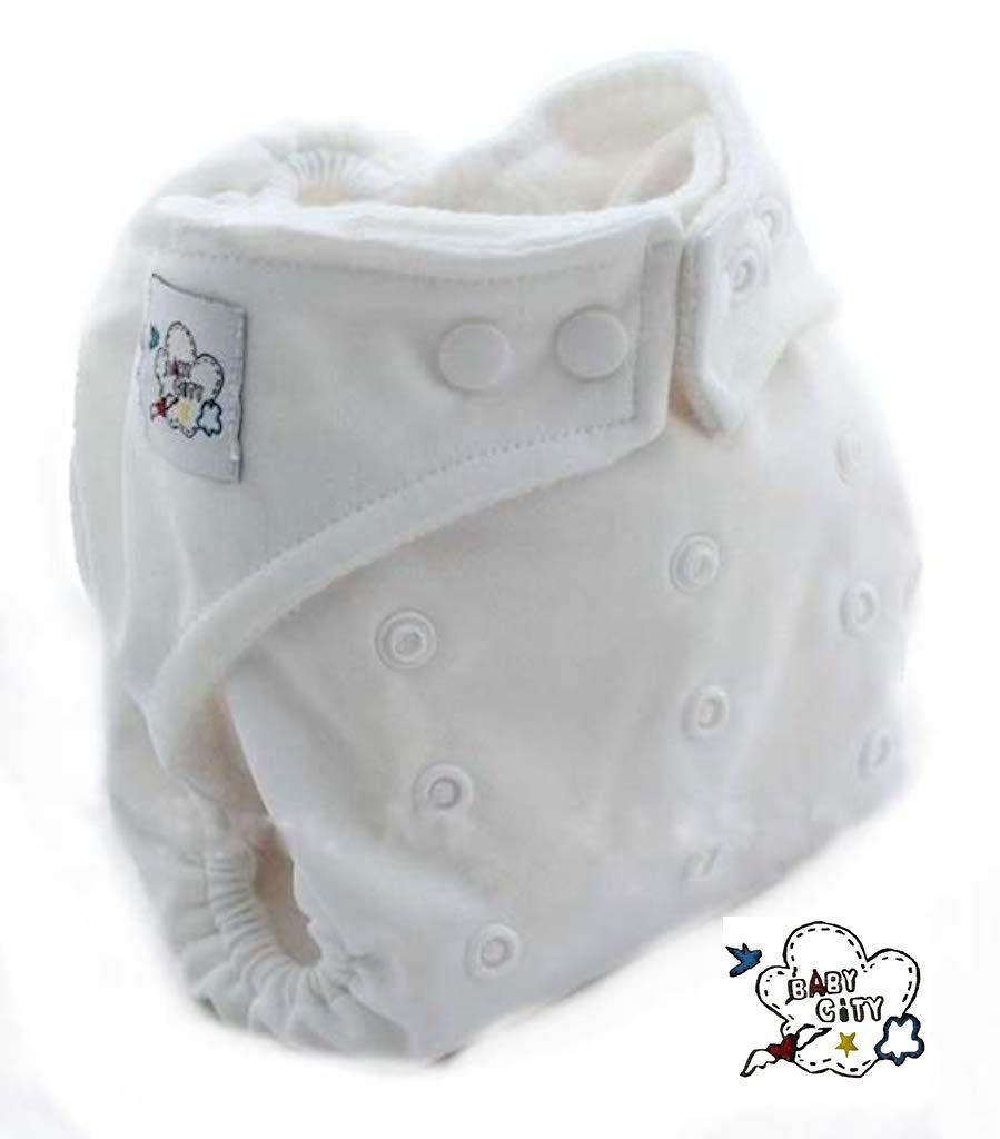 Juego de 5bebé ciudad + 10Triple capa de microfibra Inserta–lavable pañales pañales bolsillo–Mamma Bimbi–Juego de funda nórdica Baby City
